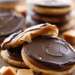 Twix Cookies from chef-in-training.com ...If you love Twix, then you will LOVE these cookies! Shortbread cookie, caramel filling and chocolate topping- they are INCREDIBLE!