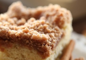Breakfast Cake from chef-in-training.com ...This recipe is AMAZING! The crumb topping paired with the delicious cake is a match made in heaven!