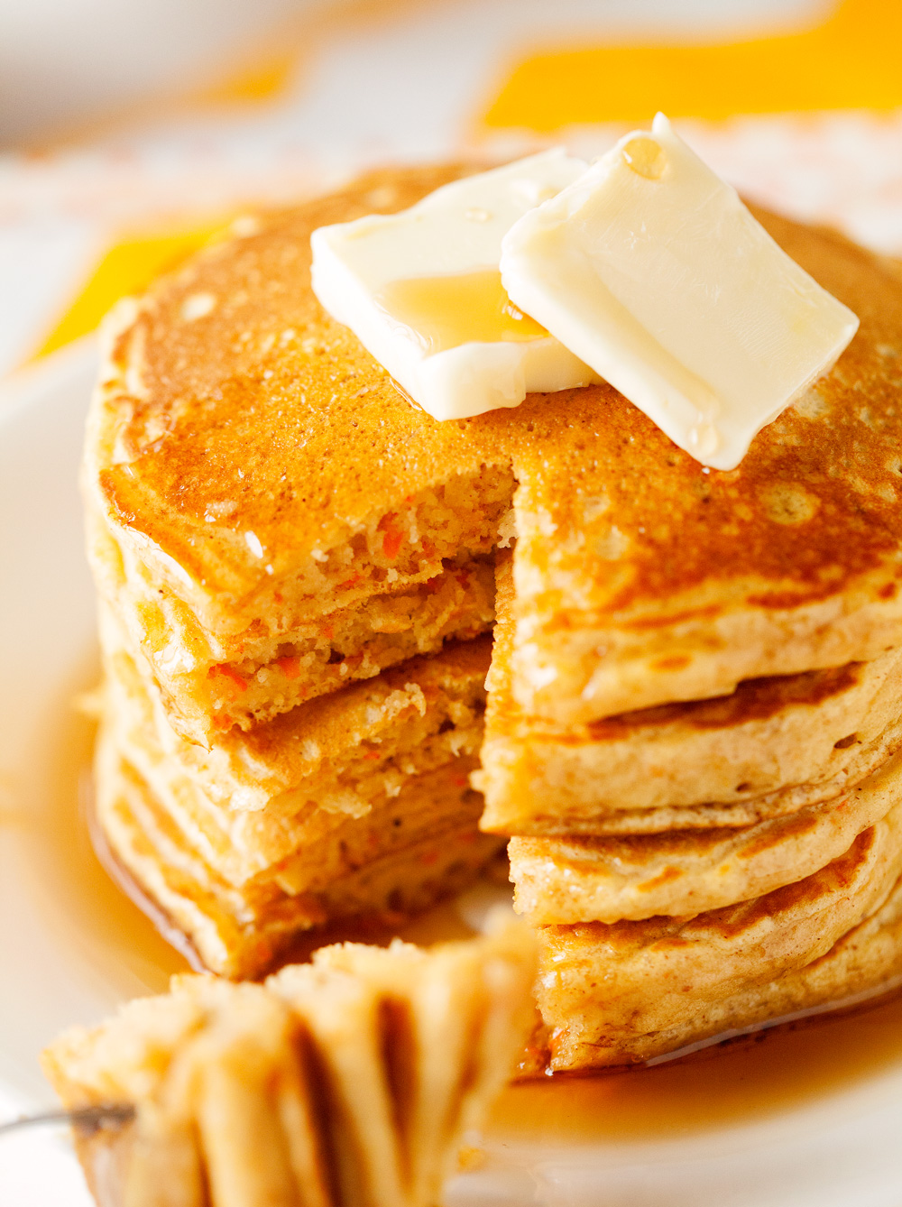 Carrot Cake Pancakes - Chef in Training