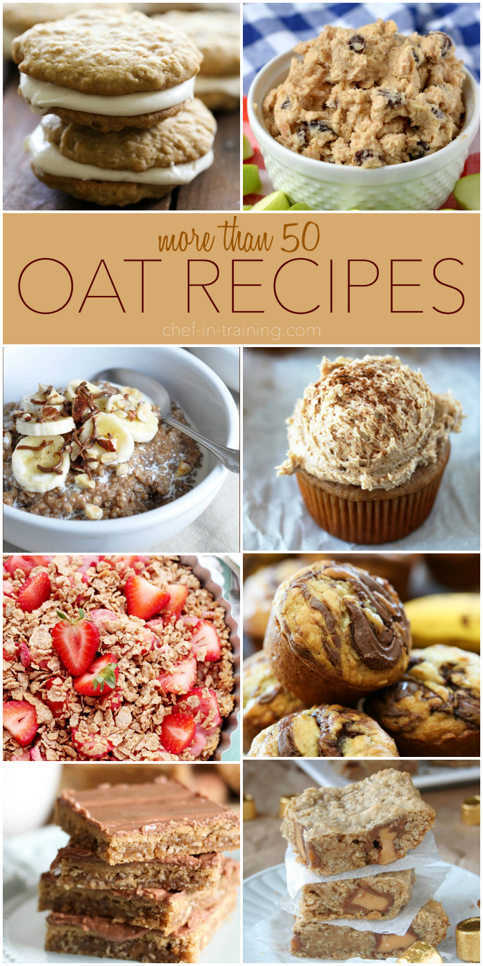 More than 50 Oat recipes on chef-in-training.com ...these all look FANTASTIC!