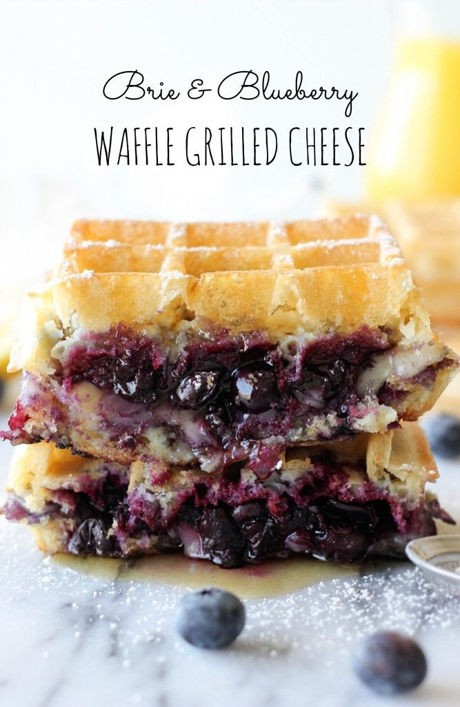 Brie and Blueberry Waffle Grilled Cheese