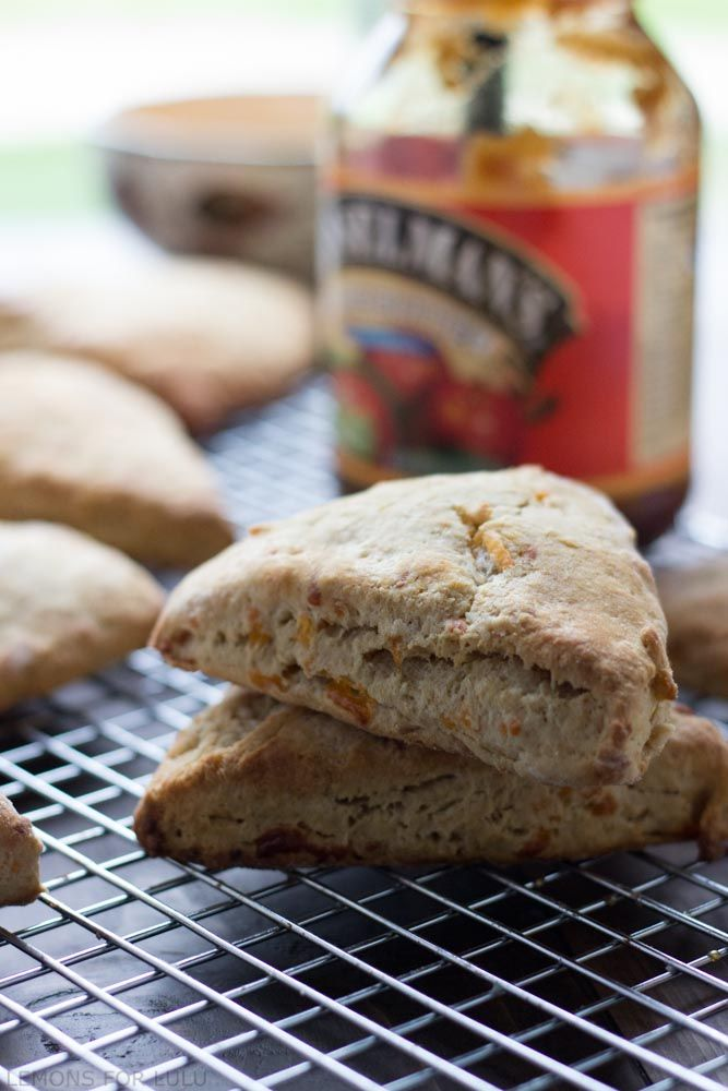 Cheddar Apple Butter Scones