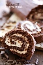 Chocolate Cream Roll