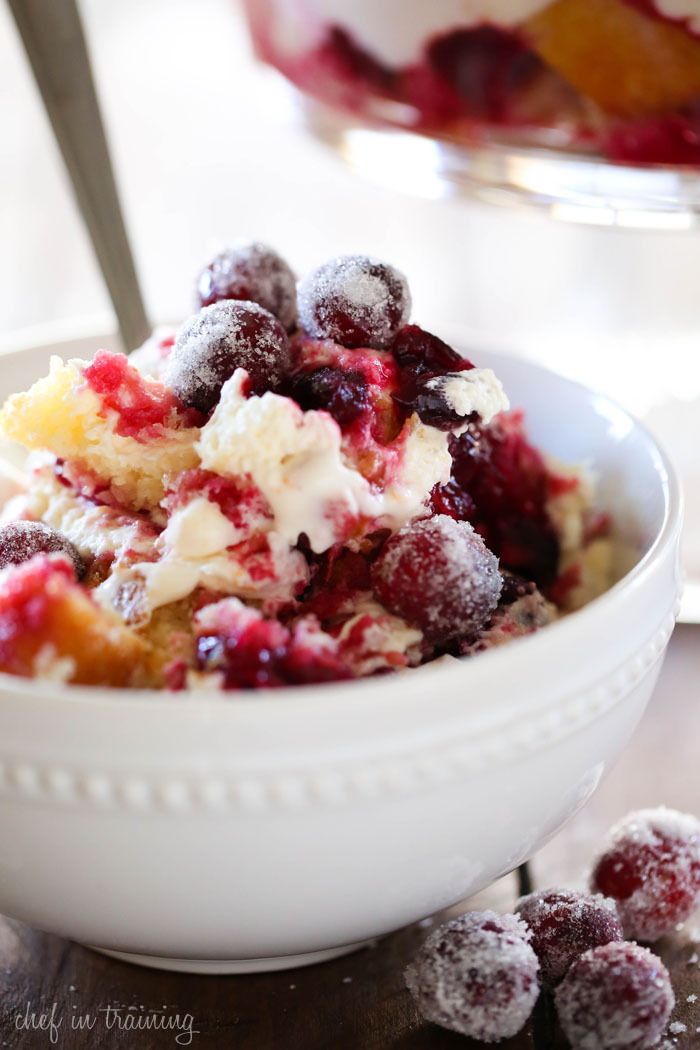 Cranberry Orange Cream Trifle from chef-in-training... okay. This recipe is truly OUTSTANDING! People will be begging you for it! Trust me, it is THAT GOOD!