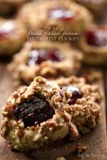 Fruit-Filled Pecan Thumbprint Cookies