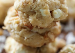 Tropical Chunk Cookies from chef-in-training.com ....These cookies are loaded to the max with so many delicious ingredients! They are seriously SO good!