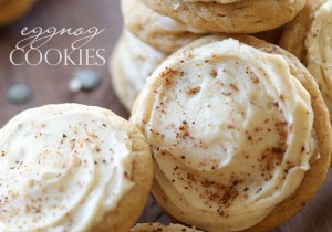 Eggnog Cookies from chef-in-training.com ...These are the perfect festive holiday cookie! These cookies are soft and SO delicious!