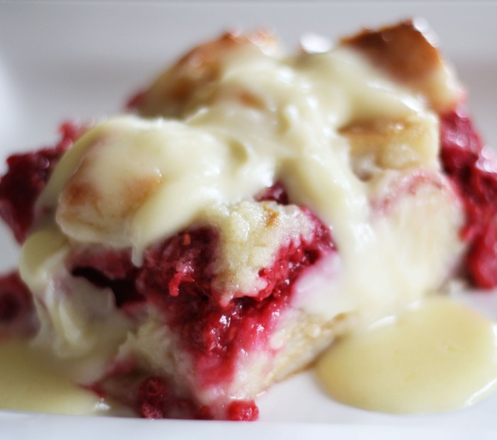 Kneaders Raspberry Bread Pudding from Chef in Training