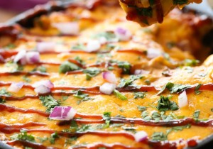 BBQ Chicken Dip from chef-in-training.com ...This dip is SO deliciously addictive! The flavors compliment each other wonderfully! This will be the hit of the party!