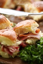 Chicken Cordon Bleu Sliders