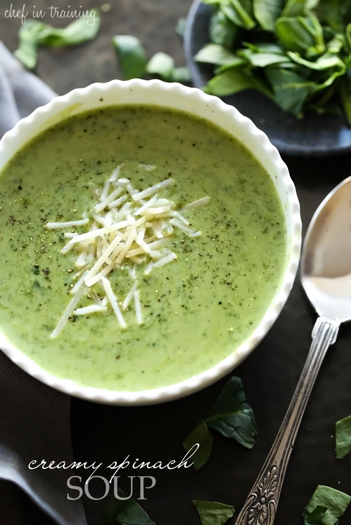 Creamy Spinach Soup... this soup is SO delicious! This is a definite ...
