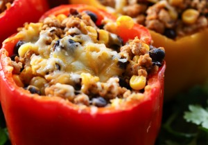 Enchilada Stuffed Peppers from chef-in-training.com ...This is one DELICIOUS dinner! The flavor is absolutely amazing!