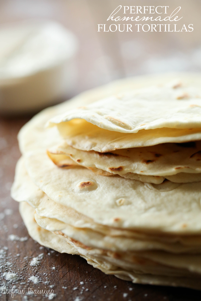 Perfect Homemade Flour Tortillas.... These are so simple to make and taste SO good!