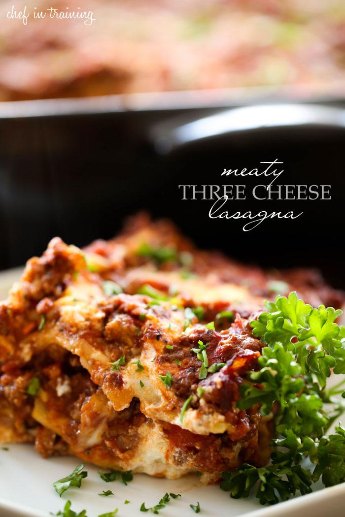 Meaty Three Cheese Lasagna | Chef in Training