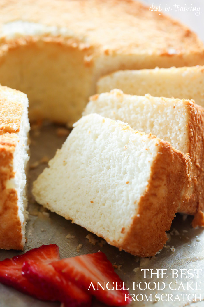 The best angel food cake chef in training the best angel food cake from scratch this cake has the most perfect texture and forumfinder Images