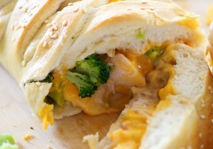 Cheesy Chicken and Broccoli Braid... this dinner is so easy and SO yummy! It will quickly become a new family favorite!