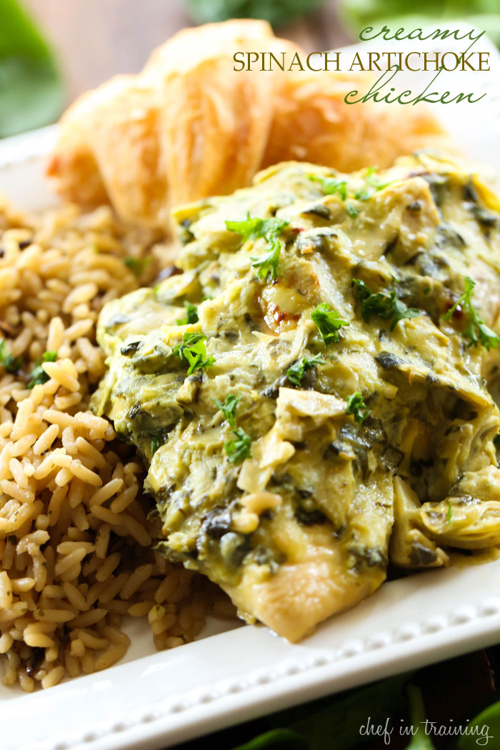 Creamy Spinach Artichoke Chicken... The Creamy spinach artichoke sauce ...