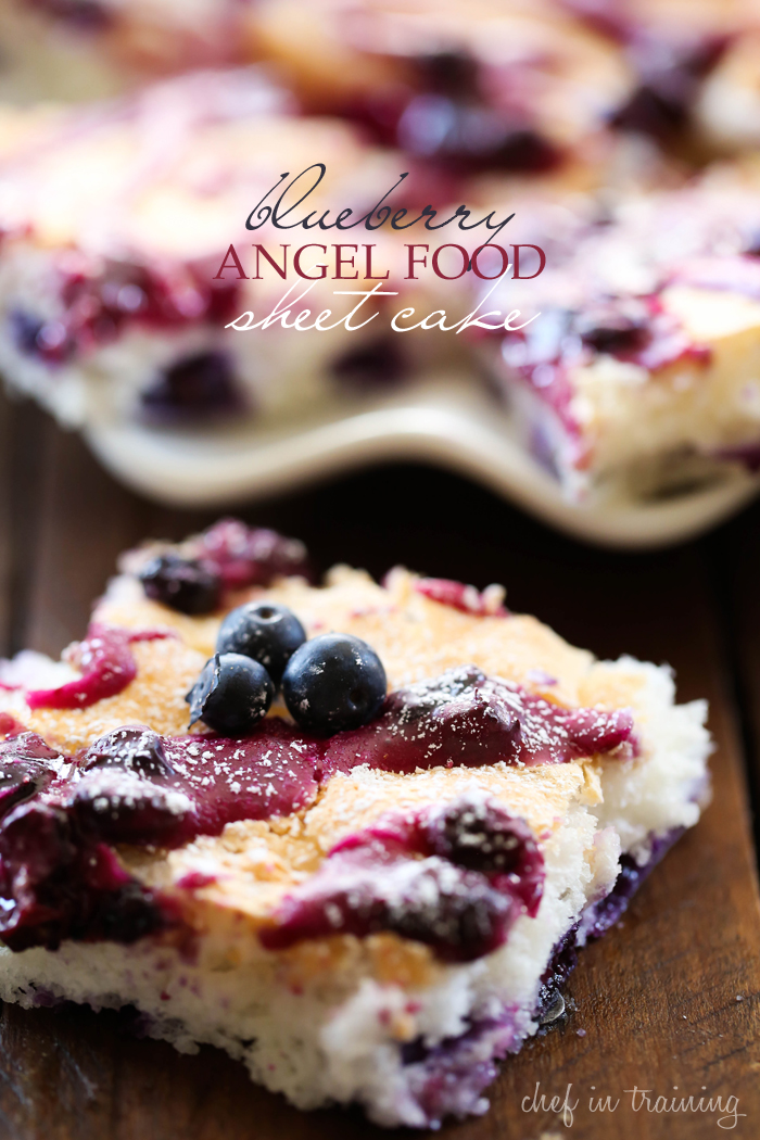 Blueberry Angel Food Sheet Cake Chef In Training