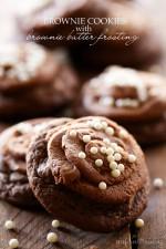 Brownie Cookies with Brownie Batter Frosting