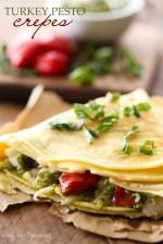 Turkey Pesto Crepes