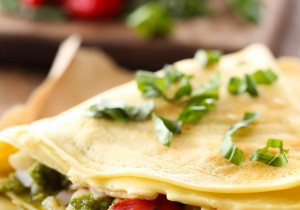 Turkey Pesto Crepes... these crepes are savory and spectacular! The flavors and ingredients go so well together!