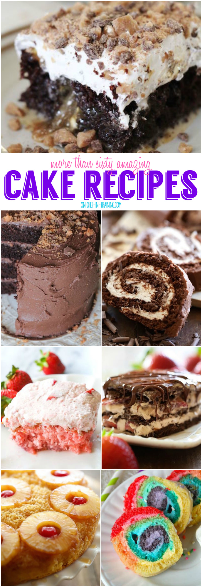 Recipes for amazing cakes