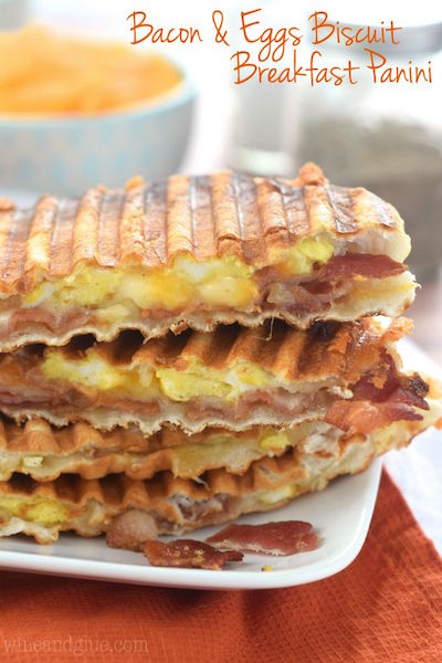 Bacon & Eggs Biscuit Breakfast Panini