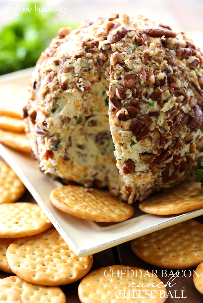 Cheddar Bacon Ranch Cheese Ball - Chef in Training