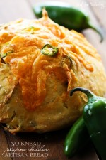 No-Knead Jalapeño Cheddar Artisan Bread