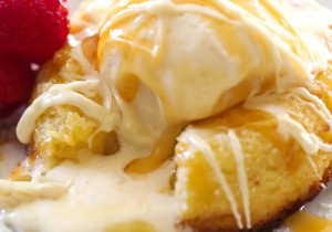 White Chocolate Molten Lava Cake... This cake is truly AMAZING! It is infused with melted goodness in each and every bite. It is beyond heavenly!