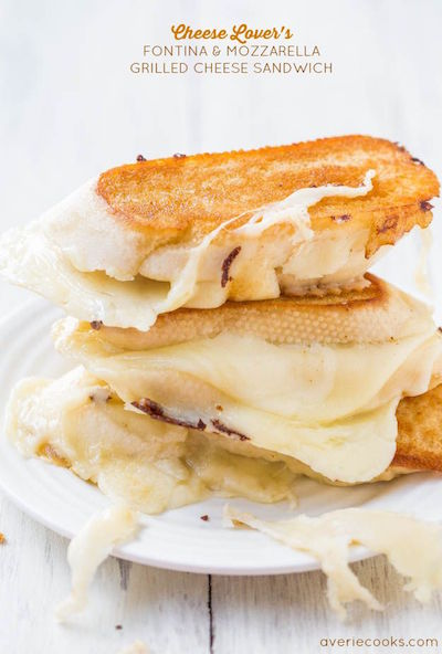 Cheese Lover's Fontina & Mozzarella Grilled Cheese Sandwich