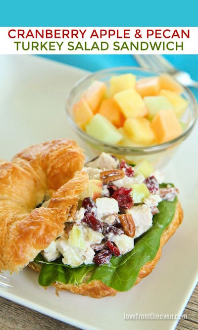 Cranberry Apple & Pecan Turkey Salad Sandwich