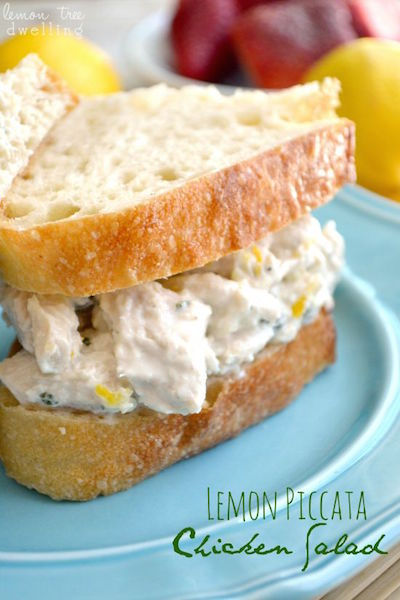 Lemon Piccata Chicken Salad