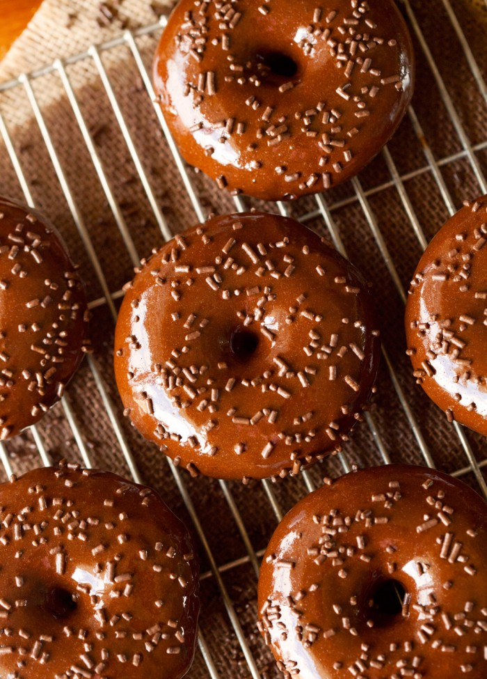Triple Chocolate Cake Donuts... these are as heavenly as they sound! A chocolate lovers dream!