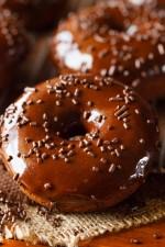 Triple Chocolate Cake Donuts