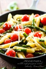 Penne Pasta with Asparagus and Cherry Tomatoes