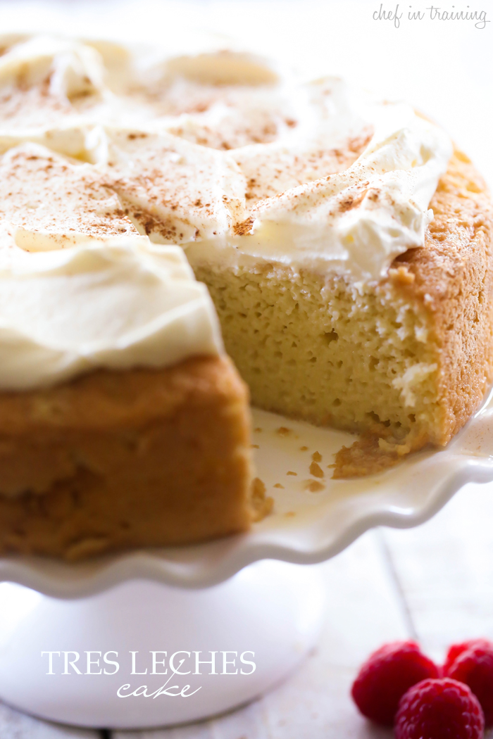 Tres Leches Cake... Let me just say, this cake will knock your socks ...