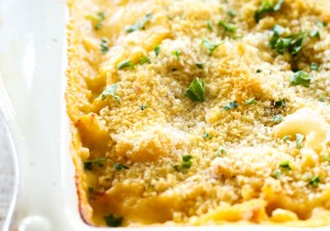 Cheesy Cauliflower Gratin... This side dish is INCREDIBLE! It is cheesy and flavorful and is a tasty way to get even the picky eaters to eat their vegetables!