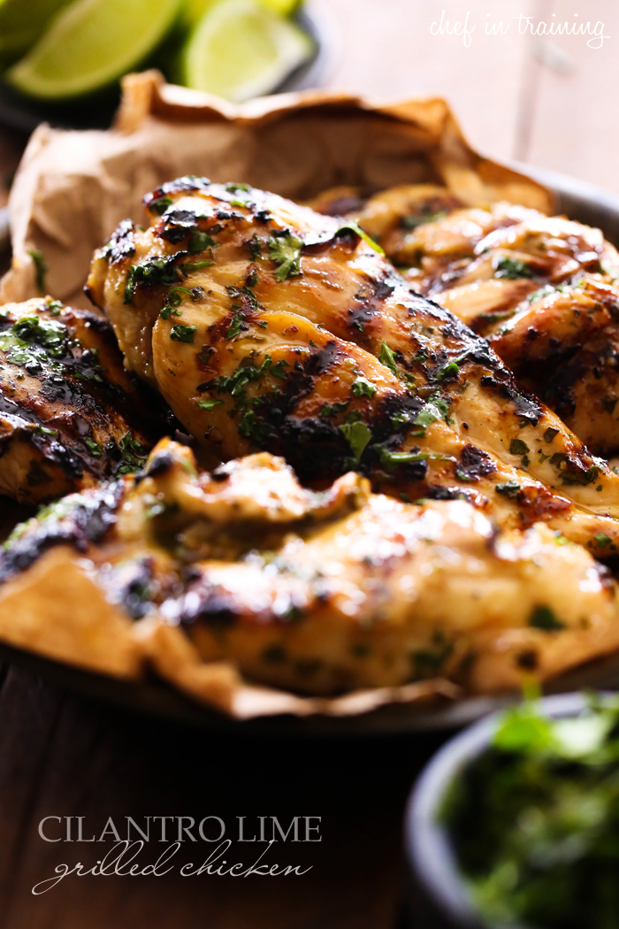 Cilantro Lime Grilled Chicken... This chicken is sweet, citrusy and has a refreshing taste! It is sure to be a hit on the grill!
