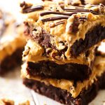 Dulce de Leche Brownies... these brownies are so fudgy and delicious! The Dulce de Leche Frosting is the perfect compliment!