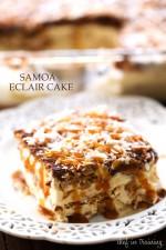 No Bake Samoa Eclair Cake