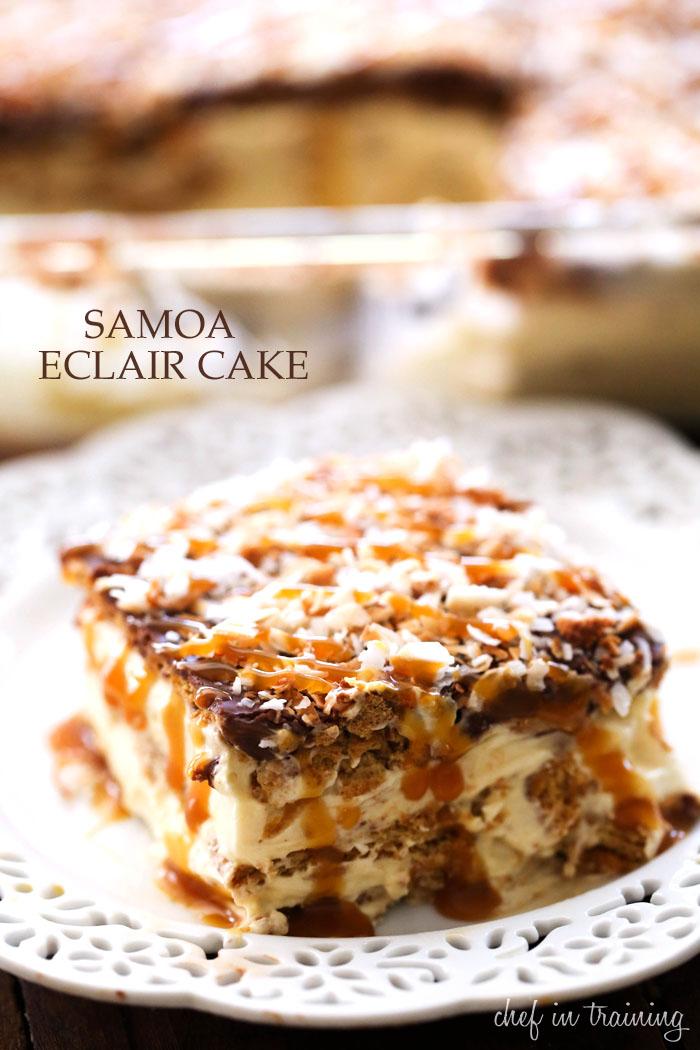 No Bake Samoa Eclair Cake Chef in Training