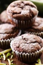 Chocolate Zucchini Banana Muffins