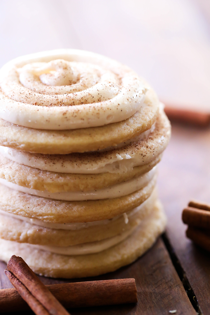 Roll Sugar Cookies... These cookies taste JUST like a cinnamon roll ...