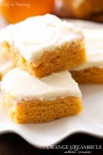 Orange Creamsicle Sheet Cake