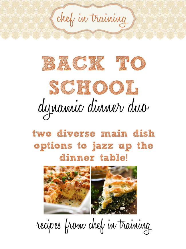 Back to School Dynamic Dinner Duo