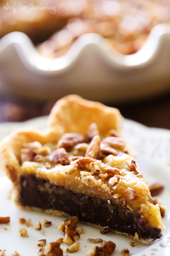German Chocolate Pie... silky smooth chocolate, coconut pecan topping come together to make one incredible pie!