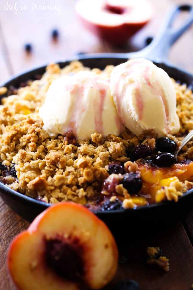 Peach Blueberry Cobbler | Chef in Training