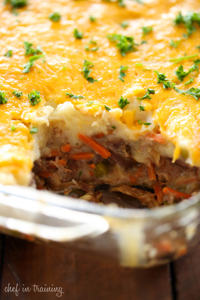 Shepherd's Pie.. This recipe is full of incredible flavor! With layers of roast, gravy and mashed potatoes, it is a classic dinner menu rolled up into one unforgettably delicious meal!