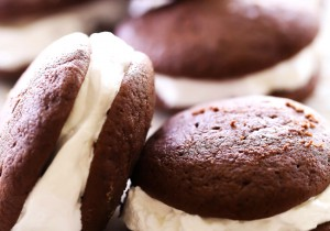 Chocolate Whoopie Pies... These cookies are soft, chocolatey and dreamy! The marshmallow-like frosting is the perfect filling! They are truly spectacular!